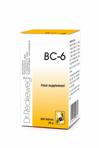 Schuessler BC6 combination cell salt - tissue salt